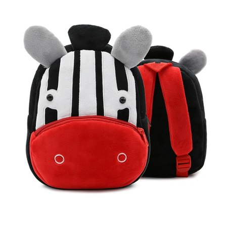 mochila infantil cebra